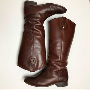 Frye Melissa Button Pull-On Brown Riding Boots 7
